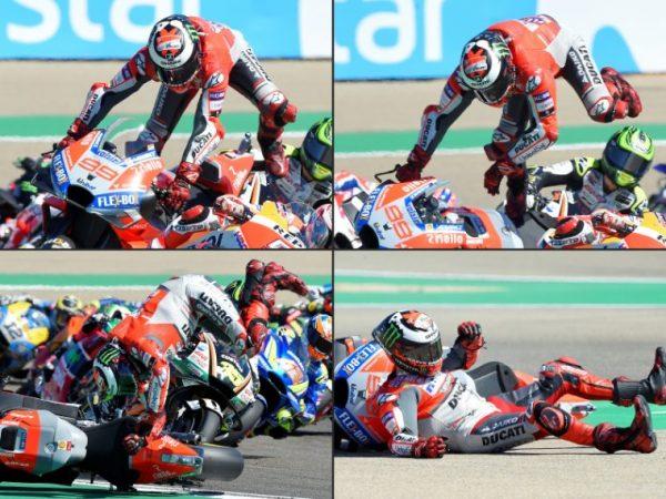 Dopo la brutta caduta Lorenzo torna in pista