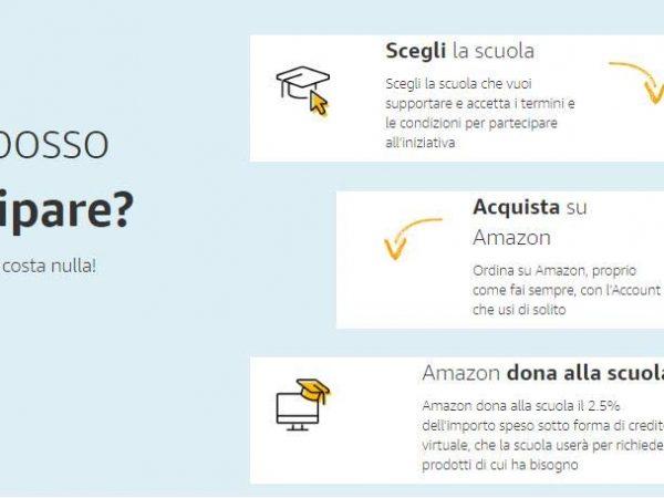 Amazon dona alla scuola
