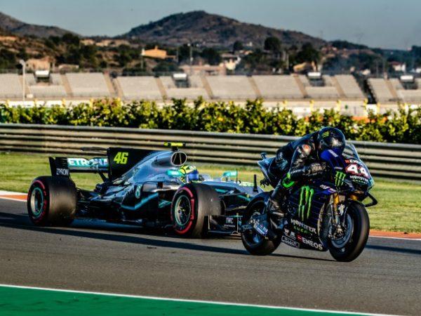 Hamilton e Rossi insieme in pista