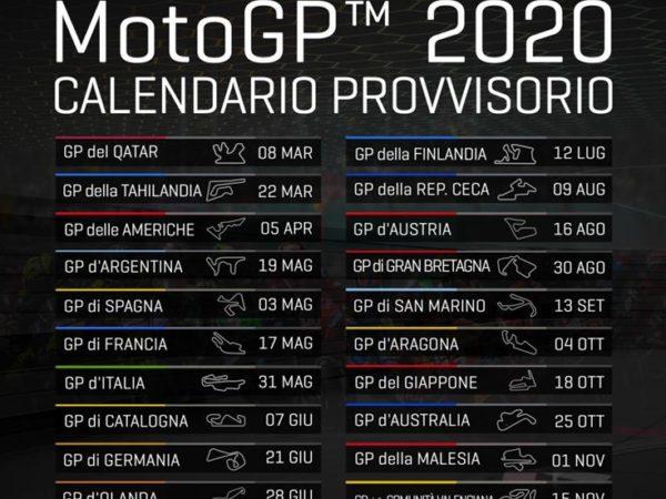 MotoGP ecco come cambia il calendario a causa del Covid-19