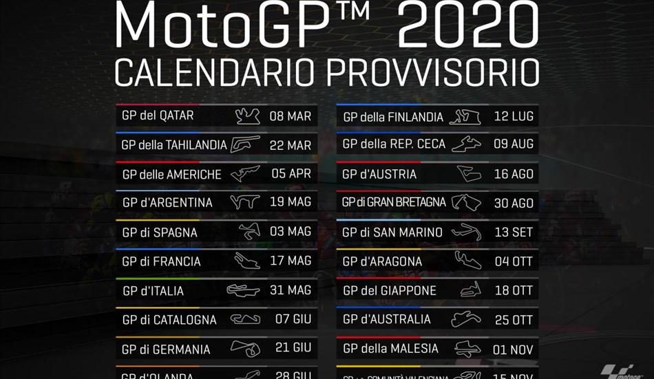 Motogp Ecco Come Cambia Il Calendario A Causa Del Covid 19 Mariannacino It C
