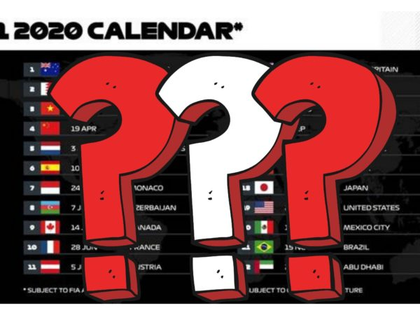 Bozza Calendario GP F1 2020
