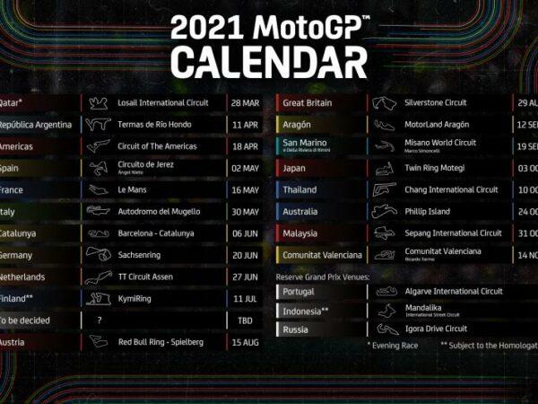 MotoGP – Calendario provvisorio 2021
