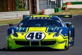 Valentino Rossi in una Ferrari